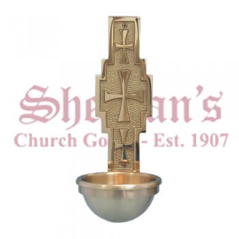 Holy Water Font with Crosses