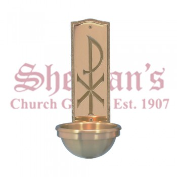 Holy Water Font - Chi Rho Back Plate Design