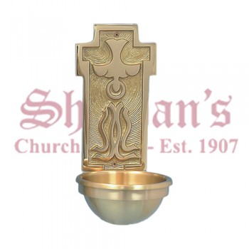 Holy Water Font with Holy Spirit