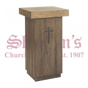 Traditional Tabernacle Stand with Carved Cross