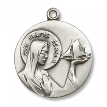 Ave Maris Stella Medal with Chain