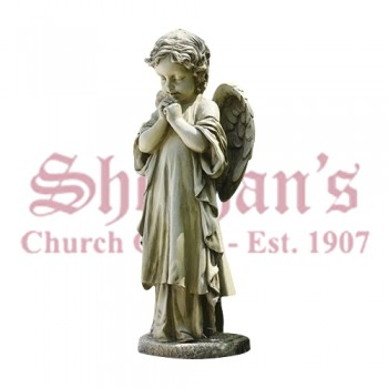 Young Praying Angel Garden Statue 26""
