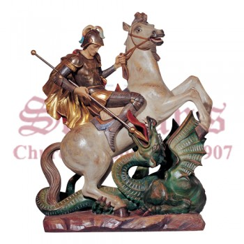 """George on Horse 40"""" Statue"""