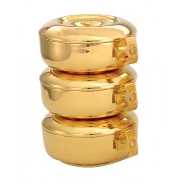 Stacking Ciboria Set in Gold Plated Finish