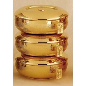 Stacking Ciboria Set in 24kt Gold Plated Finish