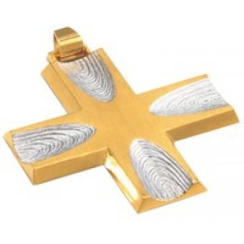 Pectoral Cross with Two tone Finish