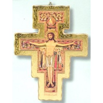 "San Damiano Wood 8 ¾"" Crucifix"