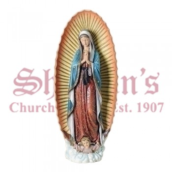 "Our Lady of Guadalupe 32"" Resin-Stone"