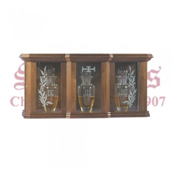 Etched Glass Wood Ambry