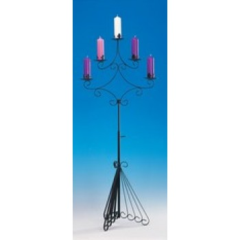 Three Tiered Wrought Iron Candle Holder