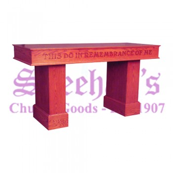Communion Table with Lettering