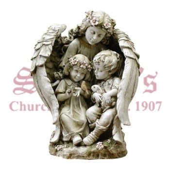 Angel with Wings Around Children 16""