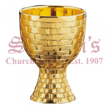 """Wicker Work"" Motif Chalice and Scale Paten"