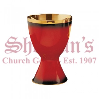 Red Enamelled Chalice and Scale Paten