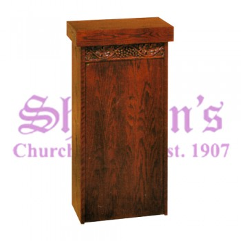 Classic Offertory Table with Grape Leaf & Vine Carving
