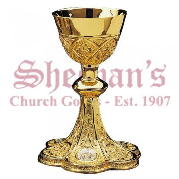 Gothic Ornamented Chalice and Scale Paten