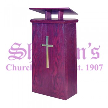 Lectern with Two Inside Shelves