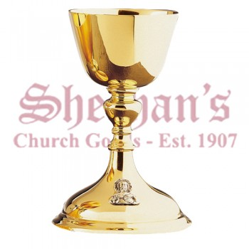Classic Style Chalice gold plated brass