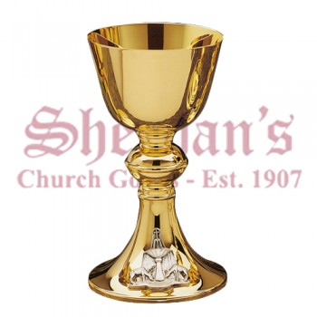 Classic degisn Chalice silver plated anagram on base