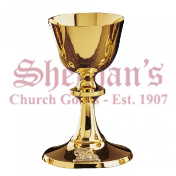 Silver Anagram in Deep Relief on Base Chalice