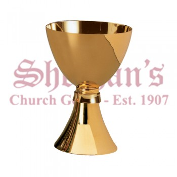 Simple style gold plated chalice