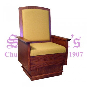Celebrant Chair with Upholstered Back
