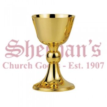 Contemporary Chalice with stem, node and base finished in high gloss