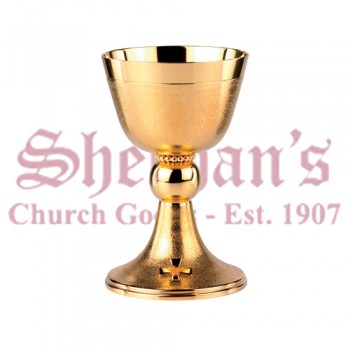 Artimetal Contemporary textured cup and base Cross on base Chalice