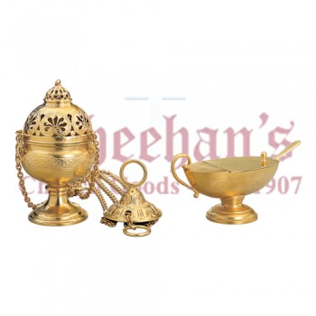 Gold Plate Censer and Boat