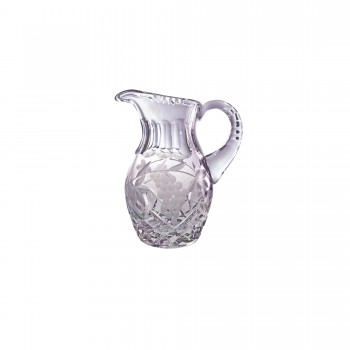 Crystal Flagon with Grape and Vine Leaves Pattern