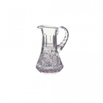 Hand Cut with Cross Design Crystal Flagon