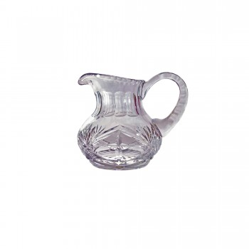 Hand Cut Floral Pattern with Cross Design Crystal Flagon