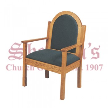 Solid Oak Arm Chair with Arched Back