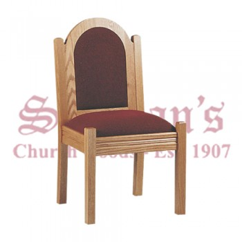Solid Oak Side Chair with Arched Back