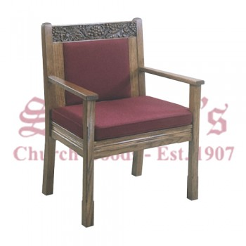 Solid Oak Celebrant Arm Chair