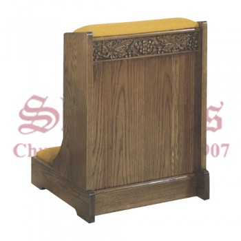 Prie Dieu with Padded Kneeler and Armrest