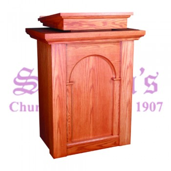 Pulpit with Two Inside Shelves