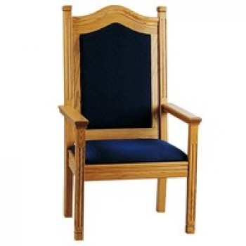 Solid Oak Pulpit Arm Chair