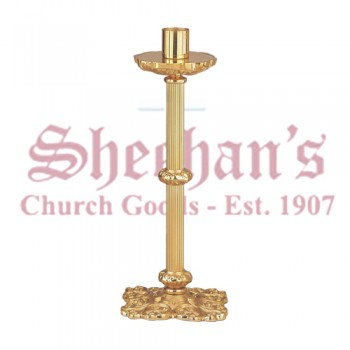 Low Profile Paschal Candlestick in High Polish Bronze