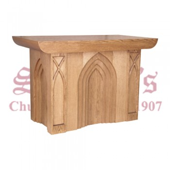 Altar with Gothic Design Trim Motifs