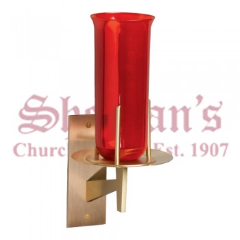 Sanctuary Lamp with Brass Wall Plate