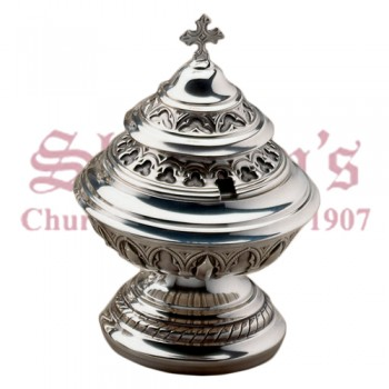 Gothic filigree Open Censer, Boat and Spoon