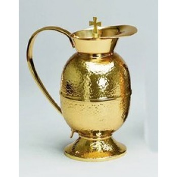 Gold Plated Flagon in Hammered Finish