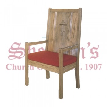 Solid Oak High Back Chair