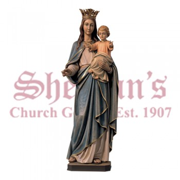 Our Lady of the Rosary Carved Lindenwood