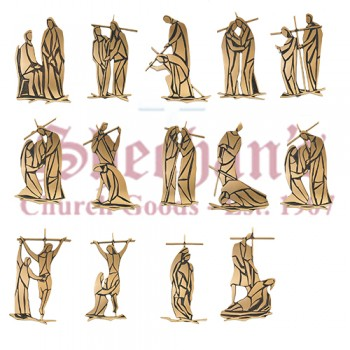 Stations of the Cross with Bronze Numerals