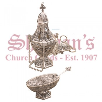 Gothic Censer, Boat and Spoon