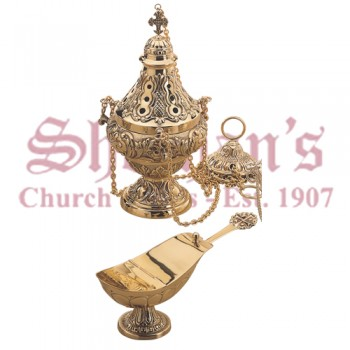 Baroque Style Censer, Boat and Spoon