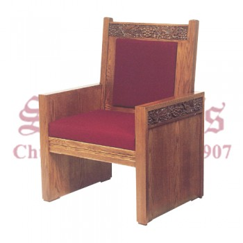 Celebrant Chair with Upholstered Seat and Back