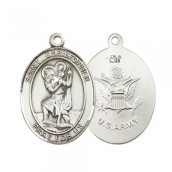 St. Christopher / Army Large Pendant